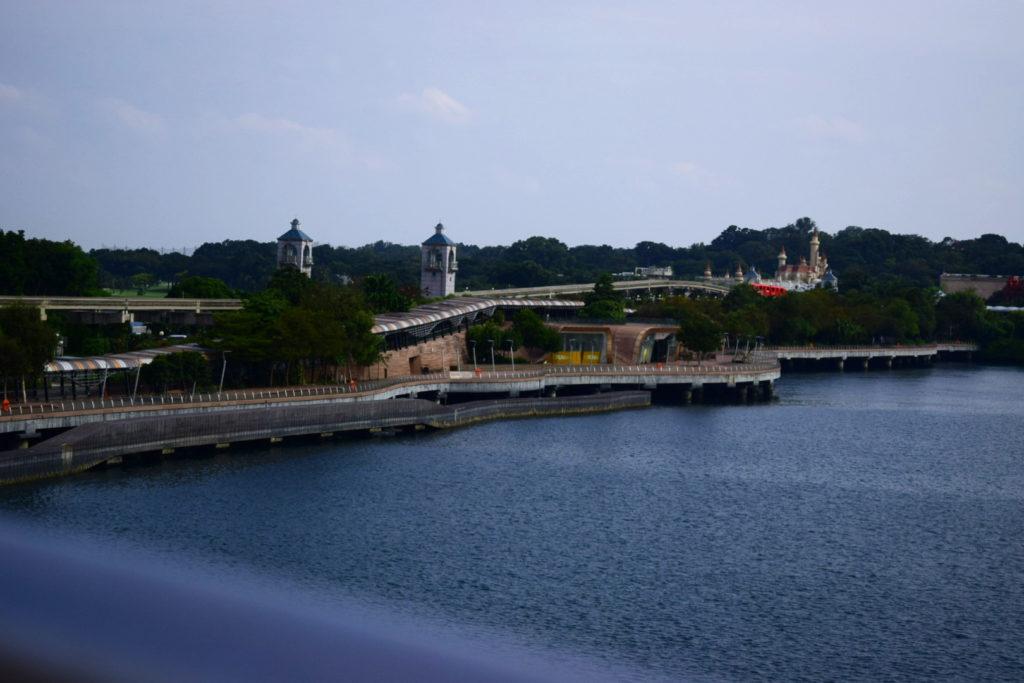 Ein Blick auf Sentosa, Singapurs Ferieninsel