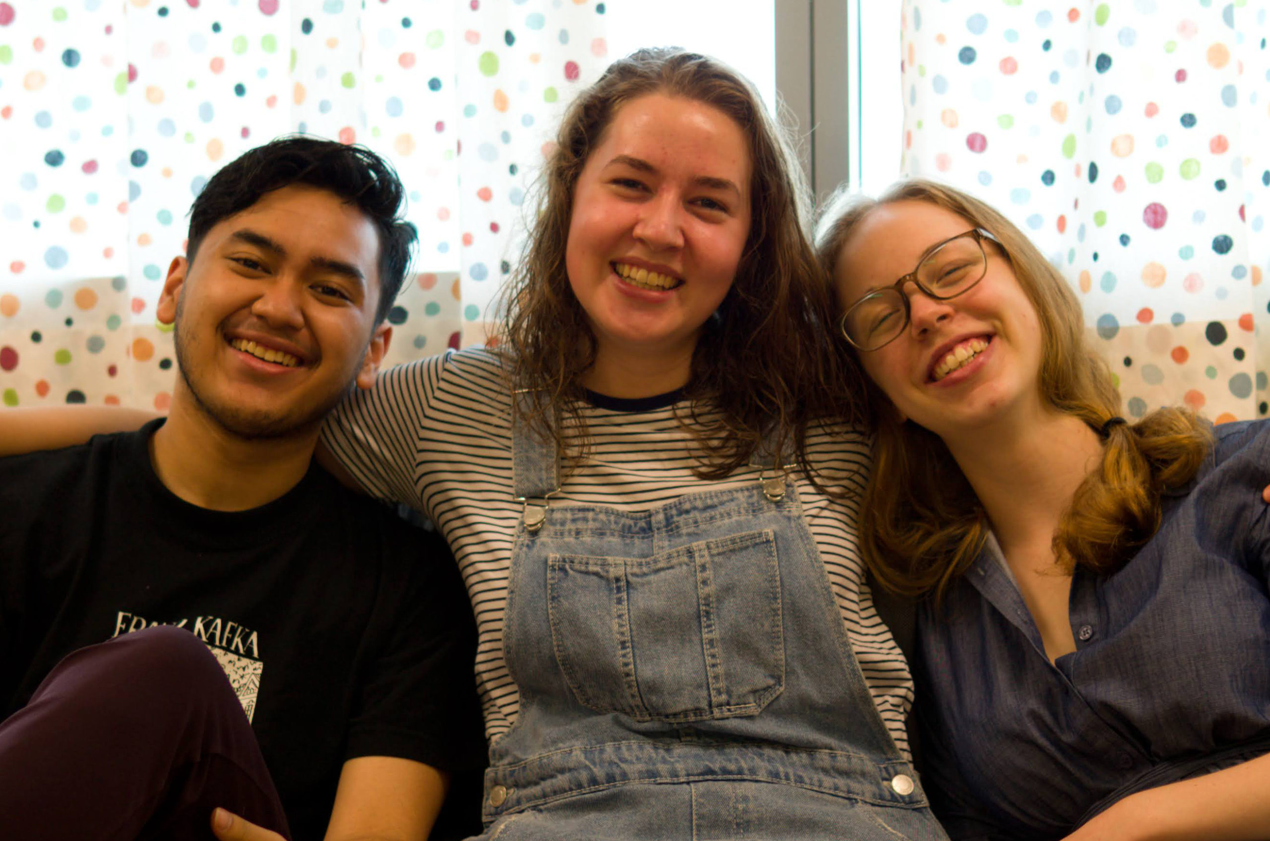 Milena mit den Boarding Interns Julia und Calvin